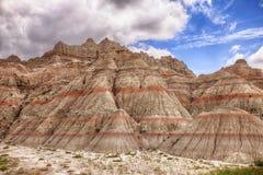 Montagnes de couleur dans les bad-lands Photos libres de droits