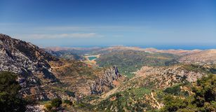 Montagnes de Crète Photographie stock