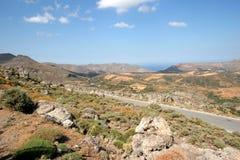 Montagnes de Crète du nord-est photos stock