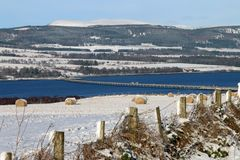 Montagnes de Cromarty Firth de Scotand Photos libres de droits