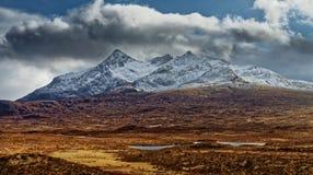 Montagnes de Cuillin, île de Skye Image libre de droits