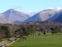 montagnes de cumbria Photo stock