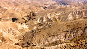 Montagnes de désert de Judean, panoramiques Photographie stock libre de droits