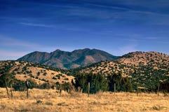 Montagnes de désert du Mexique dans HDR Images stock