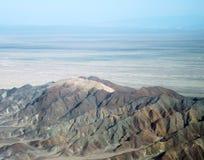 Montagnes de désert de Nazca près des lignes de Nazca Photos stock