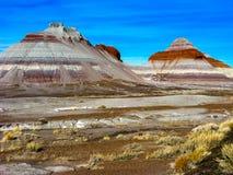 montagnes de désert peintes image stock