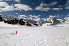 Montagnes de Denali Alaska Photos libres de droits