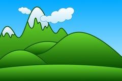 Montagnes de dessin animé Images libres de droits