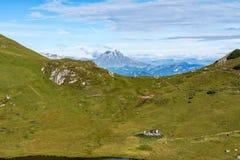 Montagnes de dolomites, Passo Valparola, Cortina d'Ampezzo, Italie photos libres de droits