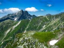 Montagnes de Fagaras en Roumanie image libre de droits