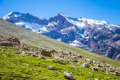 Montagnes de Fann, tourisme, le Tadjikistan Image libre de droits