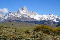 Montagnes de Fitz Roy, Patagonia Photo libre de droits