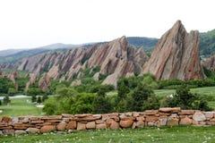 Montagnes de Flatiron Image libre de droits
