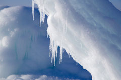 Montagnes de glace Photos libres de droits