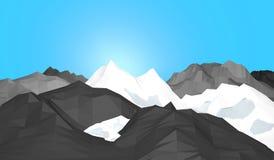 Montagnes de glace Photo stock