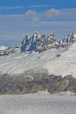 Montagnes de glacier de Mendenhall Image stock