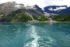Montagnes de glacier en Alaska Photo stock