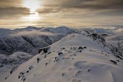 Montagnes de Glencoe en hiver Photographie stock libre de droits