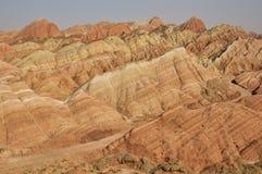 Montagnes de grès rouge image libre de droits