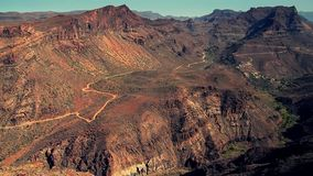 Montagnes de Gran Canaria banque de vidéos