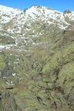 Montagnes de gredos de neige à avila Photo libre de droits