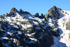 Montagnes de gredos de neige à avila Image libre de droits