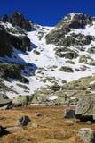 Montagnes de gredos de neige à avila Photos libres de droits