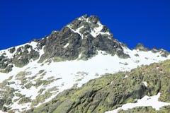 Montagnes de gredos de neige à avila Image stock