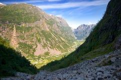 Montagnes de Gudvangen en Norvège Image libre de droits