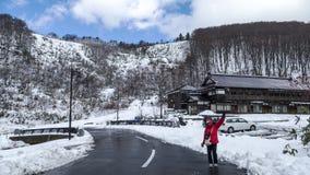 Montagnes de Hakkoda Images stock