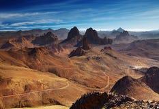 Montagnes de Hoggar, Algérie Images libres de droits