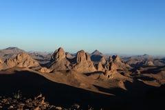 Montagnes de Hoggar en Algérie Images stock