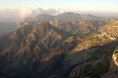 Montagnes de Jebel Akhdar, Sultanat d'Oman Images libres de droits