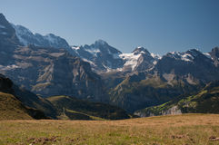 Montagnes de Jungfrau Photos stock