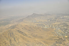 Montagnes de Kaboul, vue aérienne de l'Afghanistan Images stock