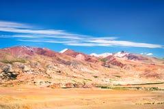Montagnes de Kyzyl-Chin Altai, Sibérie, Russie Image libre de droits