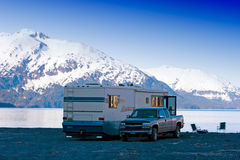 Montagnes de l'Alaska Photos stock