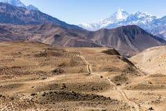 Montagnes de l'Himalaya, Népal Images stock