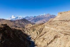 Montagnes de l'Himalaya, Népal Images libres de droits