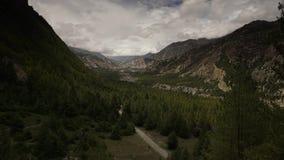 Montagnes de l'Himalaya, Népal Trekking autour d'Annapurna Timelapse clips vidéos