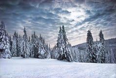 Montagnes de l'hiver images libres de droits