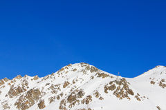 Montagnes de l'hiver Photographie stock
