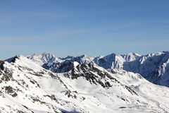 Montagnes de l'hiver Photos stock