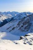 Montagnes de l'hiver Photo libre de droits