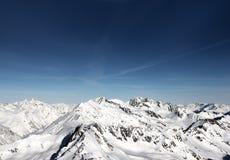 Montagnes de l'hiver Image libre de droits