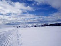 Montagnes de l'hiver Photos libres de droits