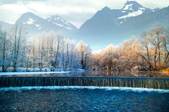 Montagnes de l'hiver norway image libre de droits