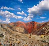 Montagnes de l'incendie, Timanfaya sur Lanzarote Photos stock