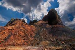 Montagnes de l'incendie, Timanfaya sur Lanzarote Image stock