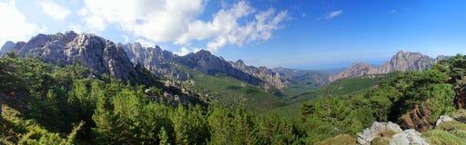 Montagnes de la Corse Photographie stock libre de droits